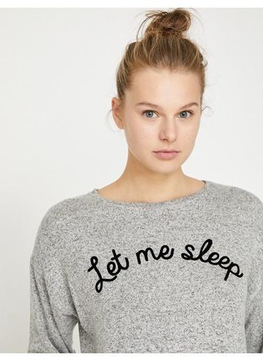 Koton Pijama Üstü Gri